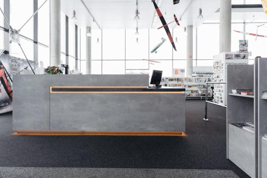 Holzplatten in Betonoptik - einzigartiges Design